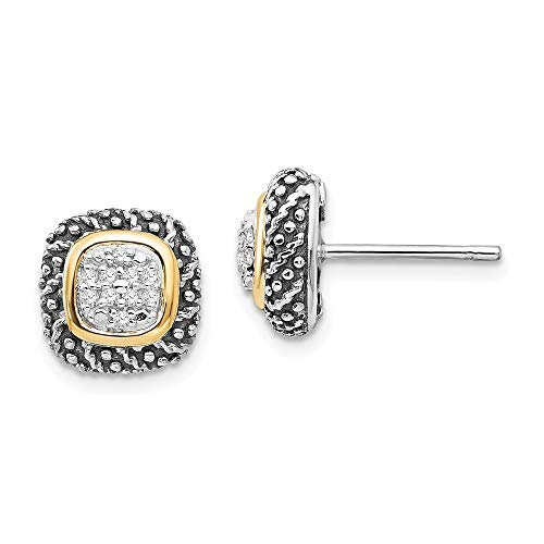 925 Sterling Silver With 14ct Diamond Post Earrings Jewelry Gifts for Women