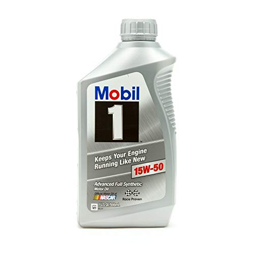 Mobil 1 Supersyn Fully Synthetic Motor Oil, 15W-50, quart (201)