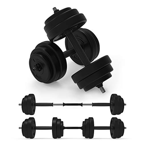 Body Revolution Dumbbell Set – Adjustable Dumbbells Weight Set with Barbell Link Accessories – Various Weights & Size Options Sold Separately (20 kg)