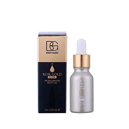 24K Goldfolie Infusion Makeup Base Essenz - KAYI Pre-Essenz, Anti-Aging, Feuchtigkeitsspendende, Poren Minimierung