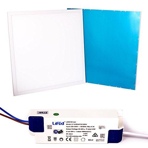 Taloya 36 W LED Panel 62 x 62 cm 83 Ra Warmweiß 3000K Rahmen weiß EEK A 5 Jahre Garantie Einlegeleuchte Rasterdecke Deckenplatte
