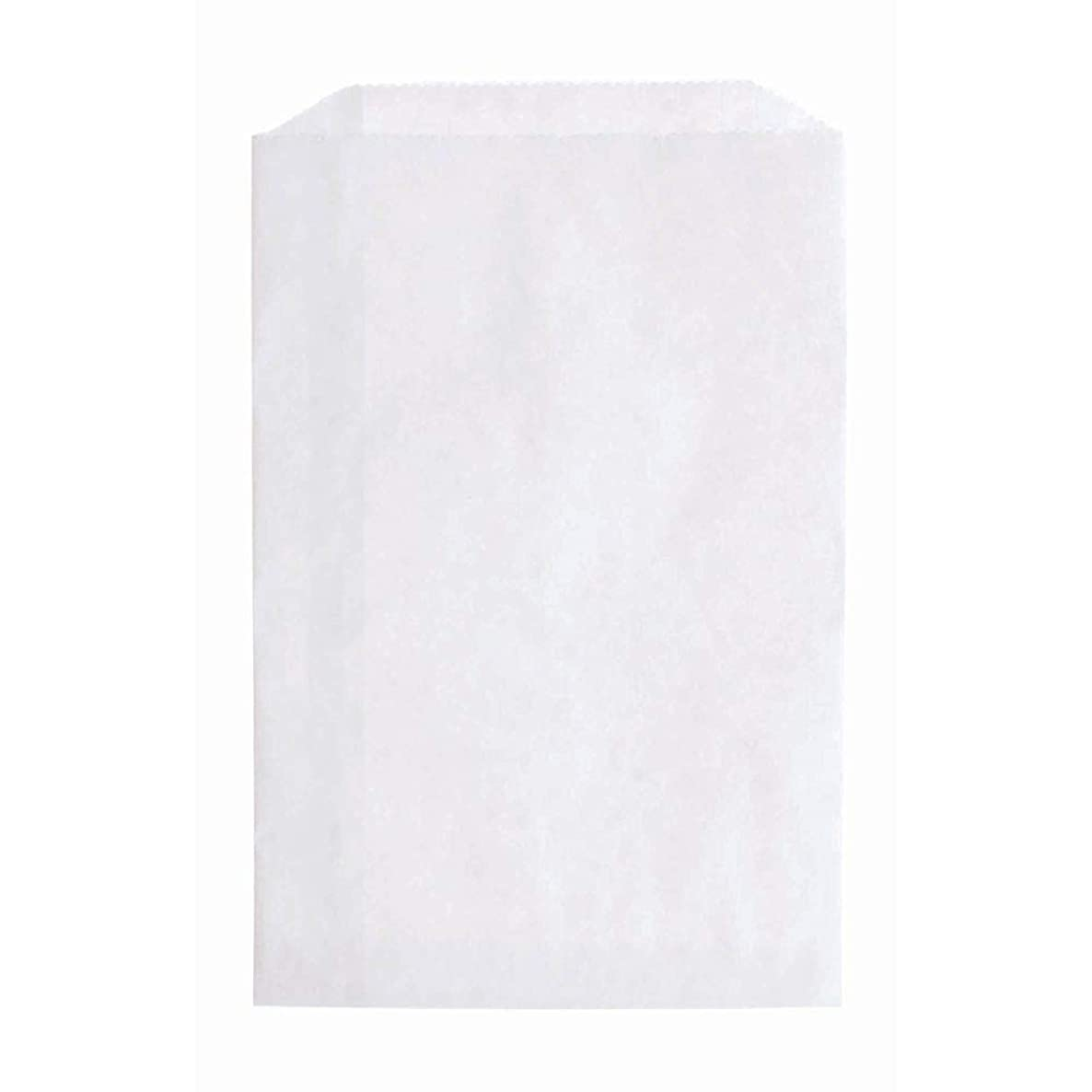 N'ice Packaging 200 White Flat Paper Bags Good for Candy, Cookies, Small Gift, Crafts, Party Favor, Sandwich, or Merchandising - no Gussett (White, 5