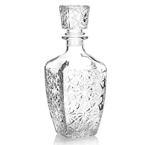 HCYSNG Whisky Decanter, Noble Whisky garrafa de Cristal, Botella de Agua for Whisky, coñac, Licor y Otras Bebidas espirituosas (Capacity : 750ml)