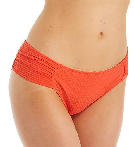 Panache Echo Gathered Bikini Bottom, XS, Orange