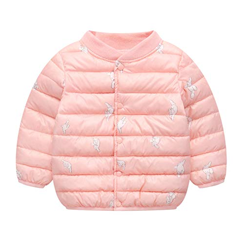 Baby Girl Boys Parka Kids Winter Cardigan Jackets Animal Cartoon Toddler Warm Down Cotton Coats Pink 9M