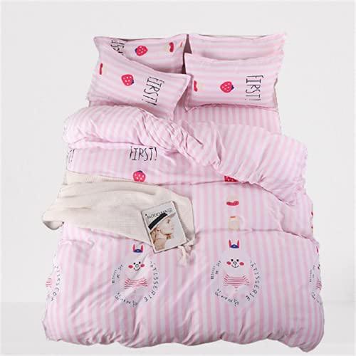 Ropa De Cama Textiles para El Hogar Funda Nórdica Impresa Juego De 4 Piezas Cómodo Transpirable Duradero Y Fácil De Limpiar 200x230cm