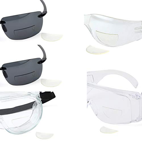 5 Pack Great View Reusable Stick-On Bifocal Lenses Reader Magnifying Adhesive Reading Lens Sticker Sport Sunglass Safety Glasses Magnifier Add On Goggles (5 Pack, 2.75)
