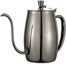 Coffee pot Stainless Steel Gooseneck Coffee pot/Hand Drop Tea, With Thermometer Jack/Vacuum Mirror Plating/Matt Drawing Process, Home Fine Mouth pot Small stainless steel hand-made coffee appliances
