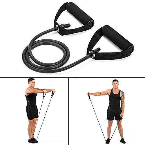 120 cm yoga touw elastische weerstandsband training rope fitness training apparatuur expander buis elastiek,Black
