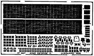 Eduard 1:700 HMS King George V. Photo-Etch Detail Set for Tamiya Kit #17007*