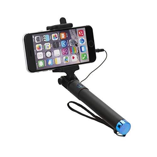 blun - Perche Selfie Compacte Jack 3,5 mm pour Samsung Galaxy S10e - S10 - S10+ - S9 + - S8 - S8+ - S7 - S7 Edge - S6 - S6 Edge - S3 Mini - S3 - S2