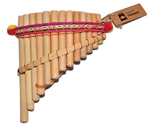 1. Artesanal Curved Pan Flute 13 Pipes