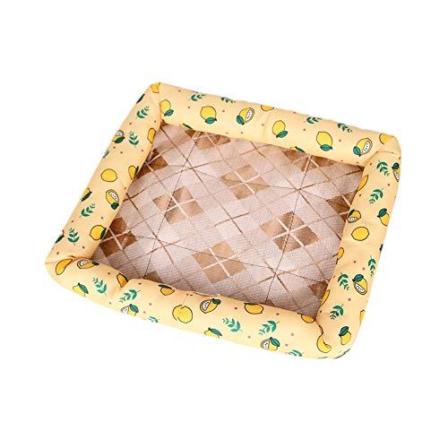 chunnron Tappetino Refrigerante per Gatti Tappetino Refrigerante Cane Dog Cool Mat Raffreddamento del Cane Cuscinetto di Raffreddamento per Cani Large,Yellow