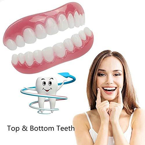 Bovenste en onderste witter maken van tanden Sets, Silicone kunsttanden, Whitening tandpasta Smile kunstgebit