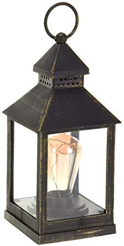 Carousel Home and Gifts Linterna LED de estilo retro vintage con luz de metal decorativa ~ El diseño varía