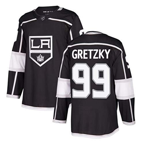 Anze Kopitar#11/Jeff Carter#77/Wayne Gretzky#99 Los Angeles Kings Eishockey Trikots Jersey NHL Herren Sweatshirts Atmungsaktiv T-Shirt Bekleidung (Color : 3, Size : XL)