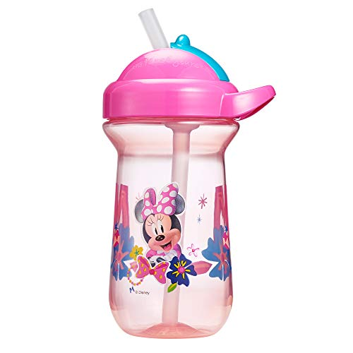 The First Years Flip-Top Straw Cup for Toddlers, Disney Minnie Mouse, 10 Ounce
