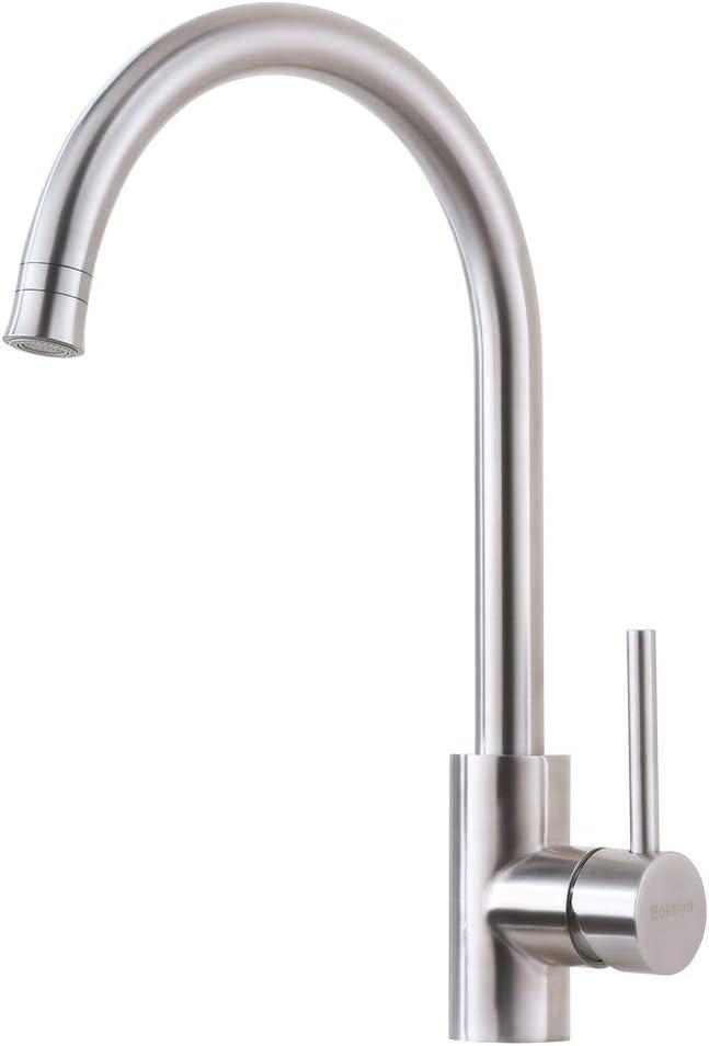 outlet 2021 new Kitchen Bar Sink Faucet-Bokaiya Brushed Steel K Nickel Stainless