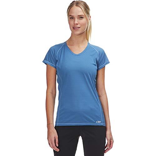 Outdoor Research T-Shirt à Manches Courtes pour Femme Echo S/S, Femme, 269205, Bleu Lapis-Lazuli, XXS