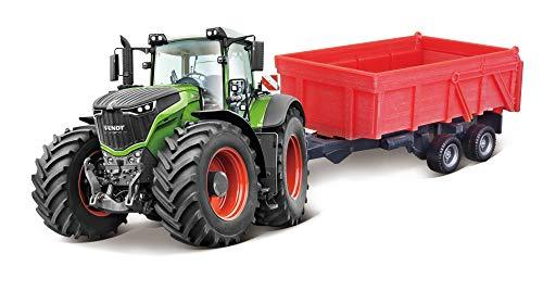 Bburago B18-31654 10CM FENDT 1000 Vario Tractor + Remolque basculante