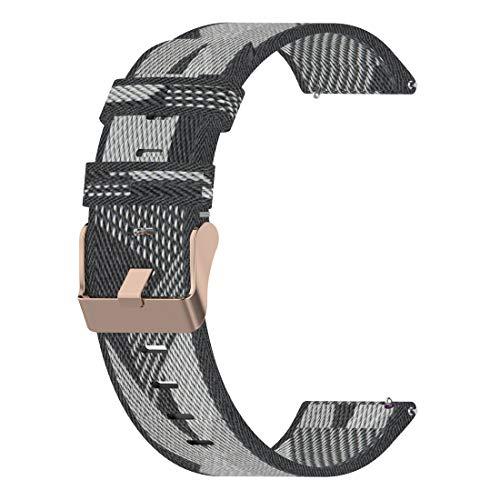 LOKEKE Correa de repuesto para mujer Fossil Sport – Correa de repuesto de nailon de 18 mm para reloj Fossil Sport/Fossil Women's Charter HR (nailon gris)