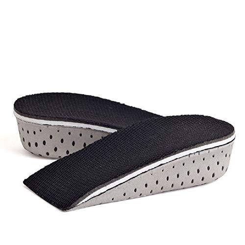 Ducomi Plantillas Elevadoras Hombre y Mujer - Plantilla Elevadora Acolchadas para Zapatos Amortiguadoras, Cómodas, Antibacteriana y Flexibles - Hasta 4,3 cm Mas de Altura - Unisex (4,3 cm)