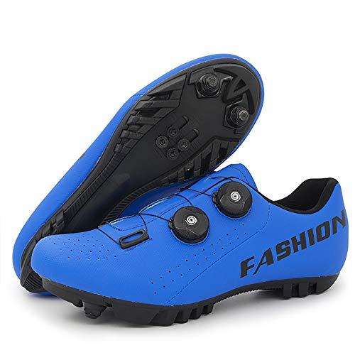 WWSUNNY Zapatillas de Bicicleta de Montaña,Calzado de Bicicleta, Zapatos de Bicicleta Antideslizantes Transpirables para Hombres para Ciclismo de Carretera y Ciclismo de montaña