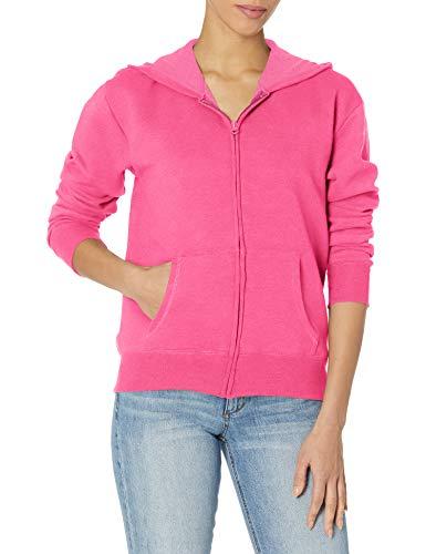 Hanes ComfortSoft??? EcoSmart® Women's Full-Zip Hoodie Sweatshirt XL Pink