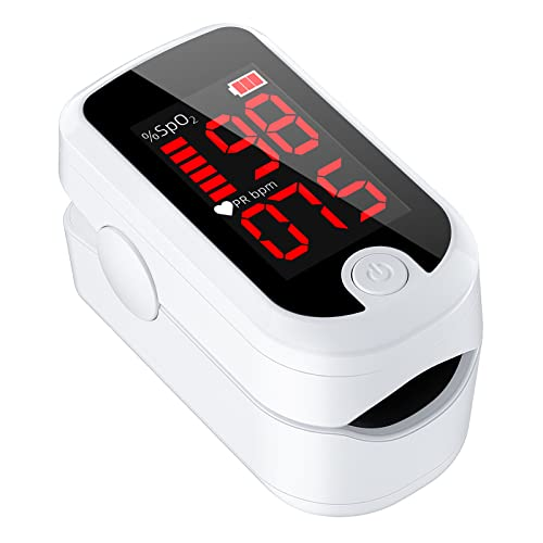 Pulse Oximeter Fingertip, Blood Oxygen Saturation Monitor with Pulse Rate...
