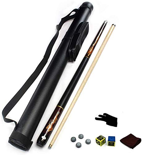 "WEHOLY Classic Handmade 57"" Ash 1/2 Piece Snooker Cue with Black Cue Case 21 oz Pool Cue Pool Cue"