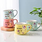 WLALLSS Novedad Presenta Regalos cumpleaños niñas y Mujeres, lintaza café té cerámica Taza Regalo, Vaso Leche Jugo limón Resistente al Calor portátil ver13x7,9 cm (5x3 Pulgadas)