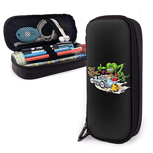 Yuanmeiju Rat Fink Leather Mäppchen Student Stationery Pouch Bag Office Storage Organizer Coin Pouch Cosmetic Bag