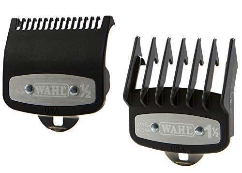 Professional Versatile Premium Cutting Guide Comb with Metal Clip #1/2 & #1 1/2 Combo Set #3354-1100-1000 for All Wahl Clippers/Trimmer