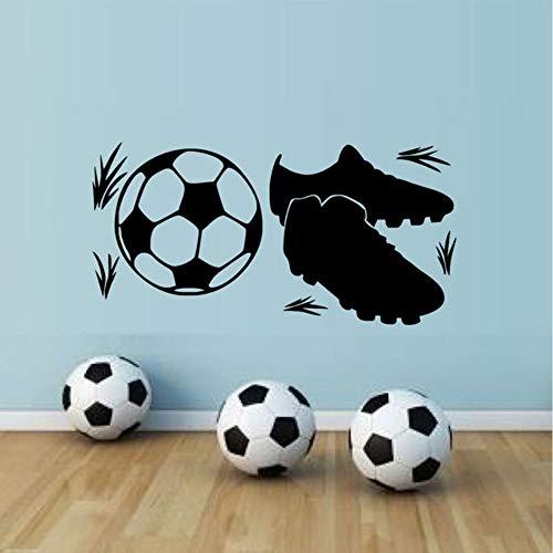 Cmhai Sneakers en Voetbal Muur Sticker Sport Decoratie Sportventilator Hoge Kwaliteit DIY Retro Poster Mural voor Jongens Kids Kamer Decor Maat 58 * 29Cm