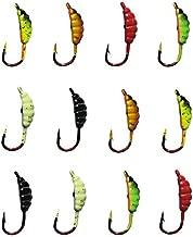 Ice Fishing Jigs Fishing Bait Jigging Lures Kit Winter Metal Lures (0.86inch/0.06oz-12pcs)