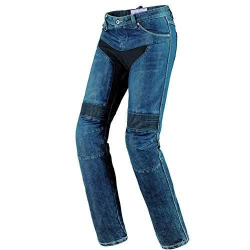 Spidi Furious Denim Damen Motorrad Jeans 34 Blue Stone Waschung