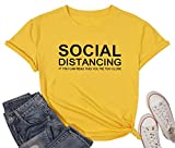 Material: Cotton blend o-neck tee top. It is breathable with skin-friendly fabric, tee-tops can washable with water, dry low heat. FEATURES: Social distancing shirt, if you can read this t shirt, quarantine shirt, introvert shirt, wash your hand shir...