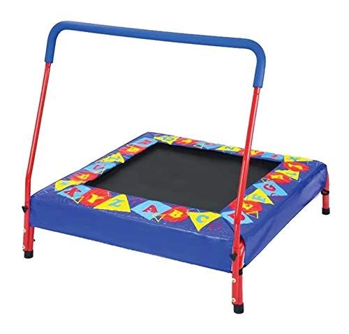 JISHIYU Cama elástica para niños, trampolín casero, cama de salto interior, pequeña cama de rebote con reposabrazos