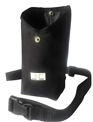 DOGS and MORE - Prima-Bag inkl. verstellbarem Bauchgurt (Leckerlitasche/Leckerlibeutel/Futtertasche) in Schwarz