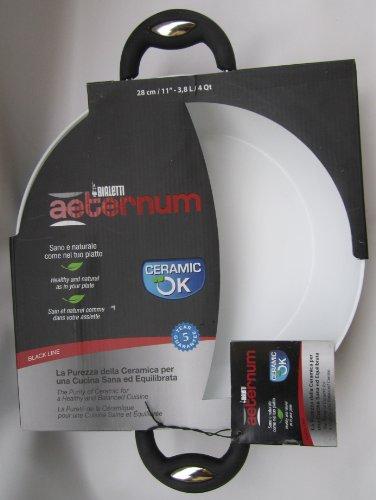 Bialetti Aeternum: Poêle Ø 28 cm 3,8 L / 4 Qt - Ceramic OK Black Line [ importation italienne ]