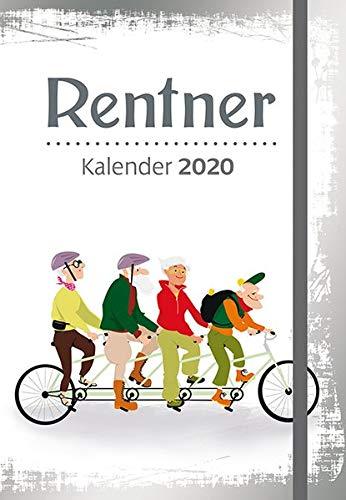 Rentner - Kalender 2020: Taschenkalender mit Lesebändchen und Gummiband