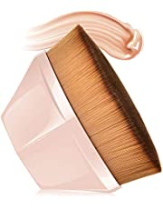 Spazzola Per Fondotinta A Forma Di Petalo Foundation Brush, MS.DEAR Pennello per Fondotinta Copertura Con Custodia, Adatta Per Cosmetici In Crema O Liquidi Misti (Rosa)