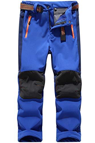 BenBoy Pantalones Montaña Niño Pantalones de Nieve Impermeables Invierno Calentar Niñas Niños Pantalones Trekking Escalada,KZ0018-Royalblue-XL
