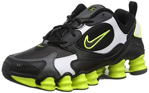 Nike Shox TL Nova, Running Shoe Womens, Negro/Veneno Limón/Gris Hierro, 39 EU
