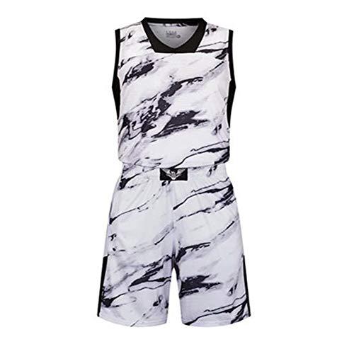 Camouflage Basketbal pak mannen training pak spel team kleding snel drogen ademende losse zak met blanco versie
