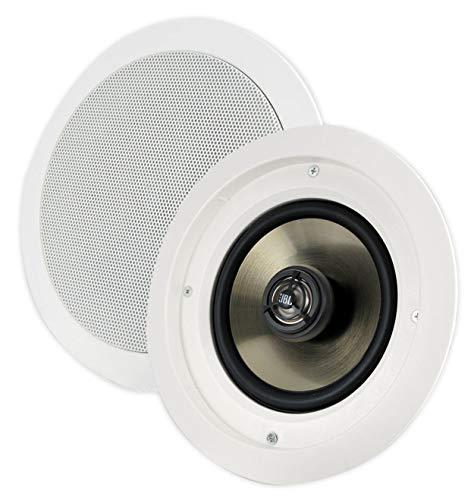 JBL SP6CII 2-way, Round 6.5' In-Ceiling Speaker with Swivel Mount Tweeter (Pair)