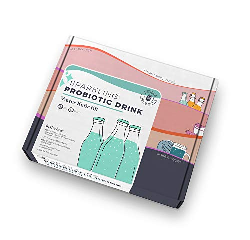 Sparkling Probiotic Drink Starter Kit | Cultures for Health | Make Sparking Probiotic drinks at home | Water Kefir Grains | Non-GMO, Gluten-Free