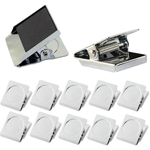 Ecgntr Cliente magnético del imán del refrigerador, la Abrazadera del Gancho magnético de 12 refrigeradores Cuadrados, imán de la Foto del imán del imán del imán del refrigerador
