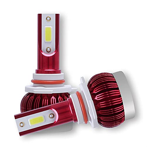 LXH-SH Ampadina para Coches 2 unids 12000lm Coche Luz de Cabeza Bubls Mini Kit de Faros para Bombilla Alta/de Haz Niebla Luz de Niebla 6000K White H1 H3 9006 9005 H4 H7 H8 H11 Luces LED para Coches