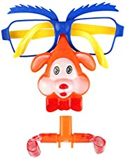 Amosfun Party Glasses with Blowouts Glasses Carnival Costume Noisemakers Party Favors Festival Party Supplies Kids Adults Toys(Random Pattern)